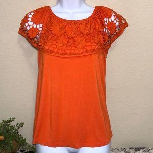 Cable & Gauge women's orange blouse